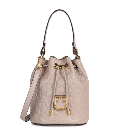 Furla Corona Mini Drawstring Logo Bucket Bag Dalia
