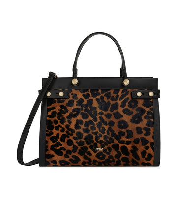 Furla Lady M Tote Toni Naturali and Onyx