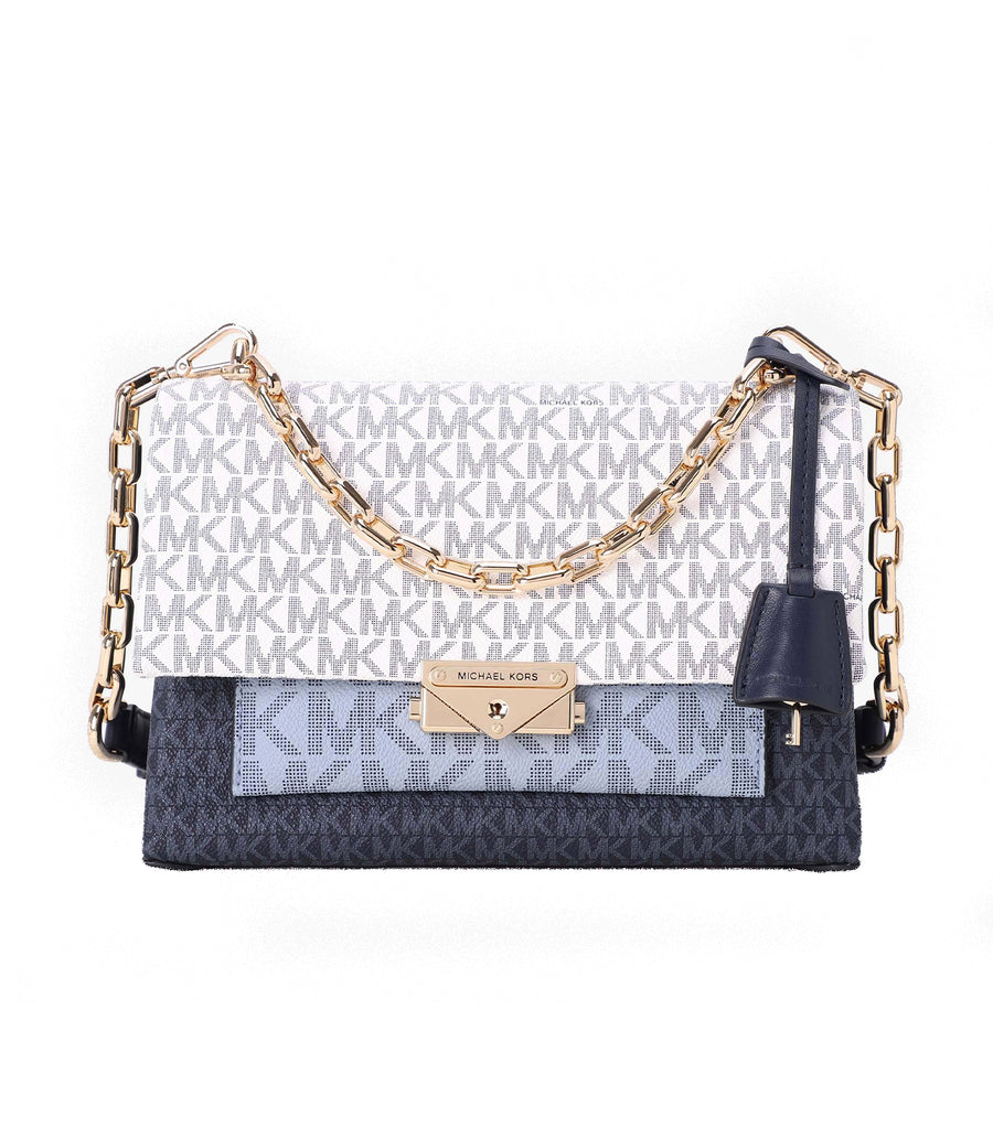 Cece Medium Chain Shoulder Bag Navy Logo