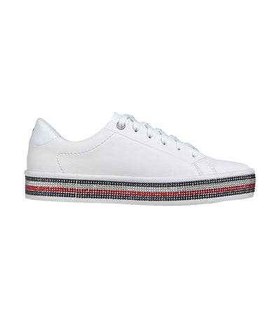 Women's Rhinestone Sneakers White