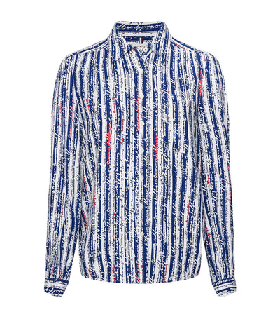 Flavia Striped Long-Sleeved Shirt Blue