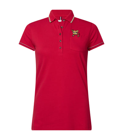 Classic Embroidered Pocket Polo Shirt Red