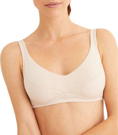 Triangular Post-Surgery Bra White