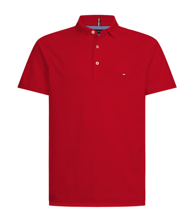 Two-Button Placket Regular-Fit Polo Shirt Primary Red