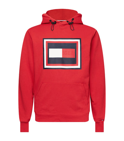 Embossed Logo Hoodie Primary Red