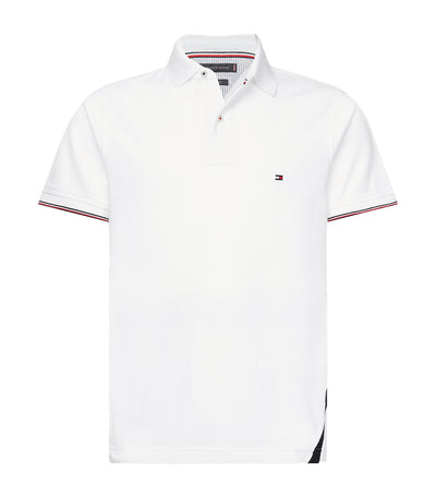 Color Blocked Slim Fit Polo Shirt White