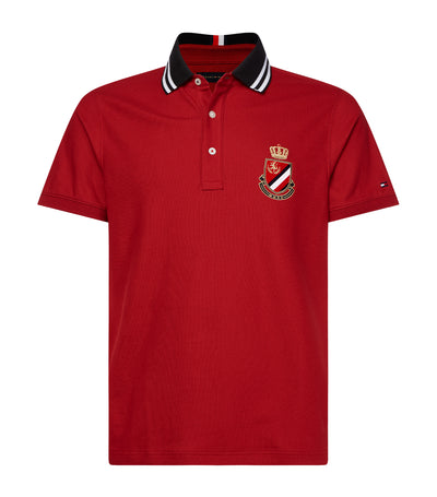 Tipped Polo Shirt Wine Red