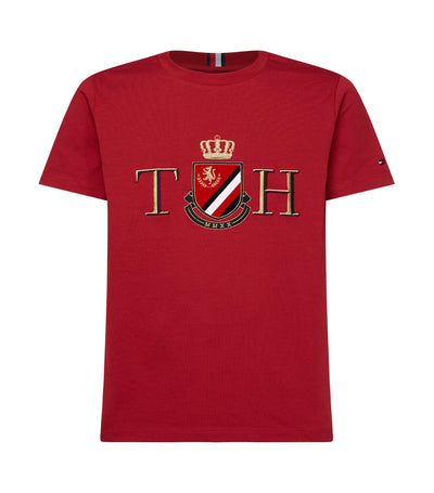 Solid Artwork T-Shirt Wine Red