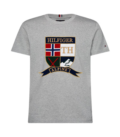 Shield Logo Crew Neck T-Shirt Tommy Hilfiger Cloud Heather