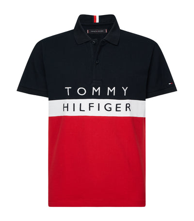 Color Block Regular Fit Polo Shirt Primary Red