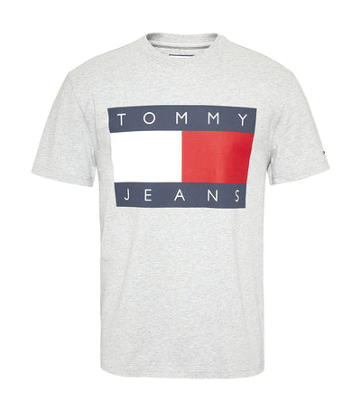 Tommy Heritage Flag T-Shirt Gray Heather
