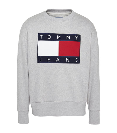 Tommy Jeans Flag Sweatshirt Gray Heather