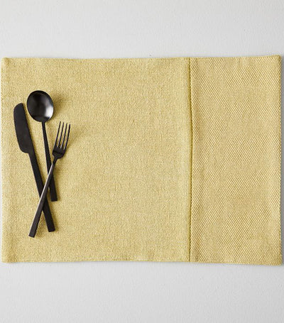 West Elm Cotton Canvas Placemat Set of 2 - Yellow Stone