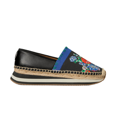 Printed Daisy Slip-On Sneaker Navy Tea Rose and Perfect Black