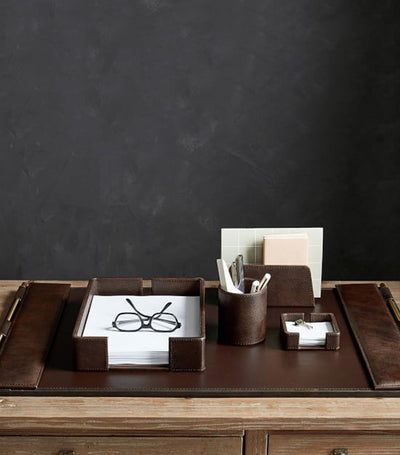Pottery Barn Klein Leather Desk Accessories Collection