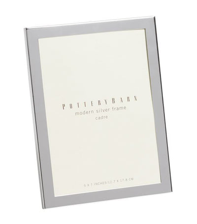 Pottery Barn Modern Silver-Plated Picture Frame