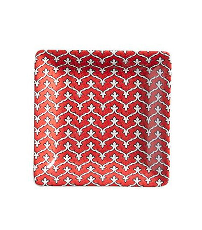 Pottery Barn Ava Appetizer Plate - Red