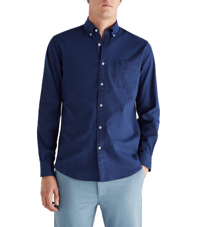 Men Plain Oxford Shirt Navy