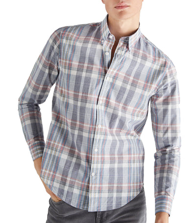 Men Woven Check Shirt Red