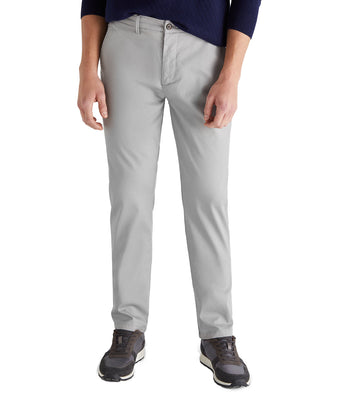 Men Regular Fit Chino Trousers Medium Gray