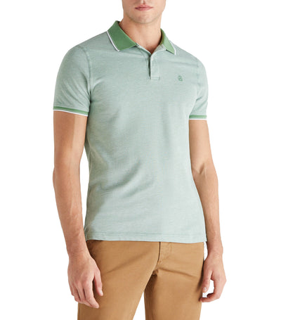 Men Knitted Polo Green