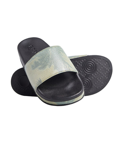 Women's Arizona Flatform Slides Black
