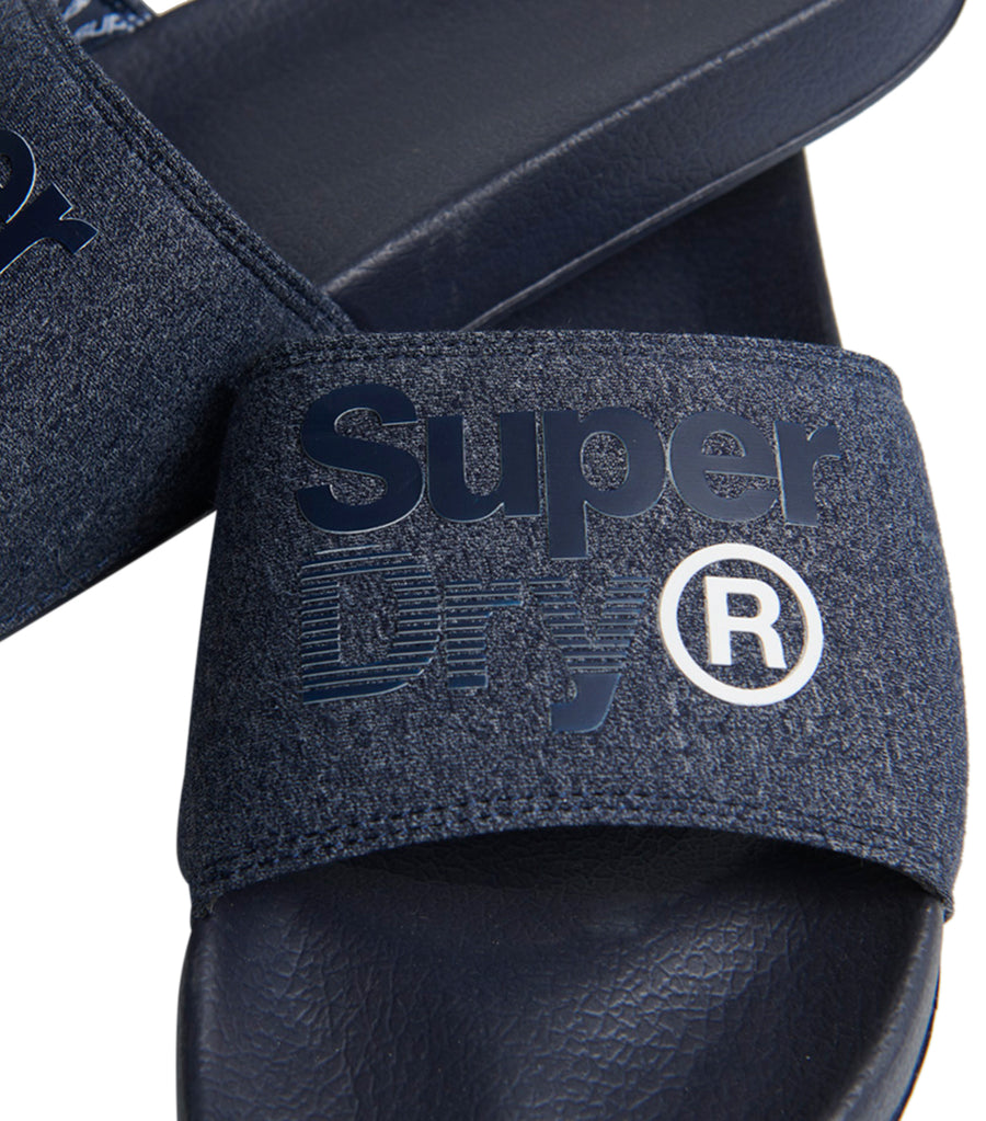 Men's Lineman Pool Slides Navy