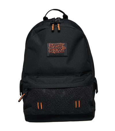 Men's Neoprene Embossed Panel Rucksack Black