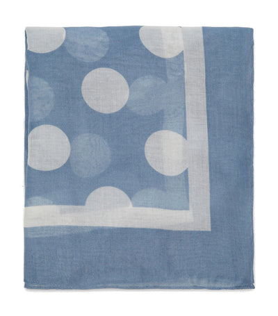 Two-Tone Polka Dot Scarf Blue
