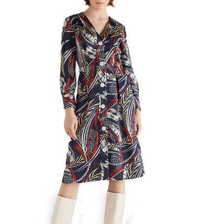 Women Printed Tunic Dress Multicolor