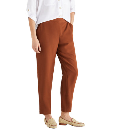 Women Woven Trousers Brown