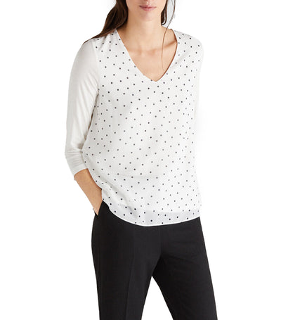Women Combined Comfortable Top Off White