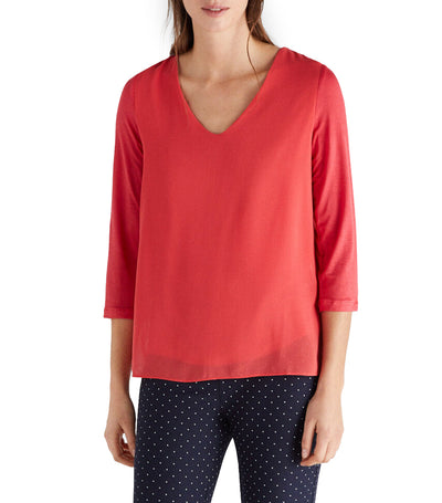 Women Combined Comfortable Top Red