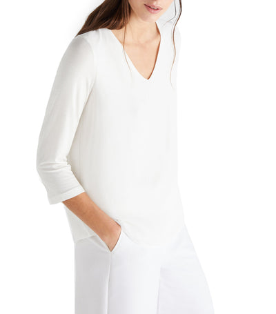 Women Combined Comfortable Top White