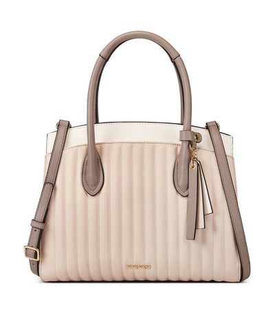 Charlize Triple Compartment Satchel Buff