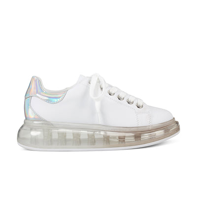 Allie Platform Lace-Up Sneakers White