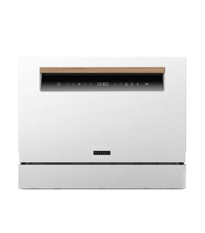 Maximus Tabletop Dishwasher White with Wood Handle
