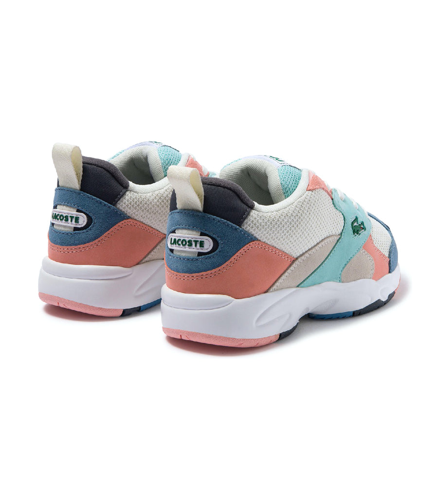Women's Storm 96 Textile and Suede Sneakers Off White/Blue