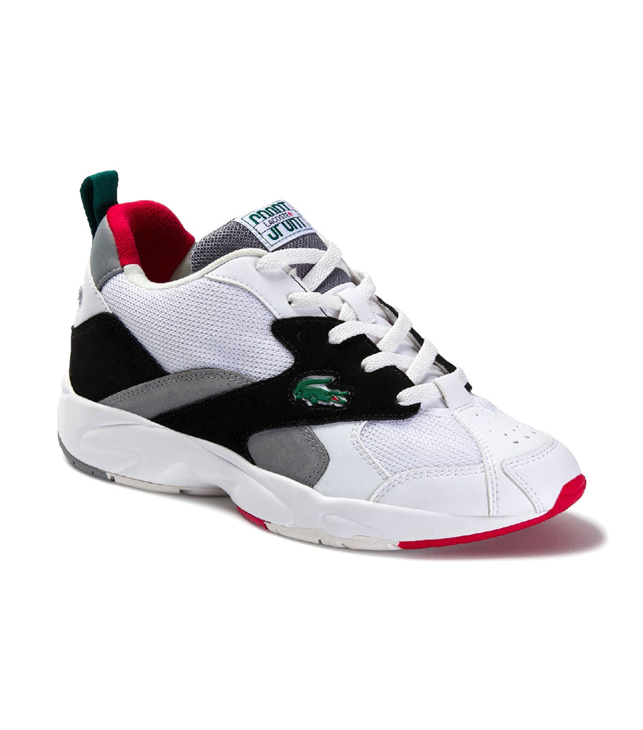 Men's Storm 96 Textile and Suede Sneakers White/Black