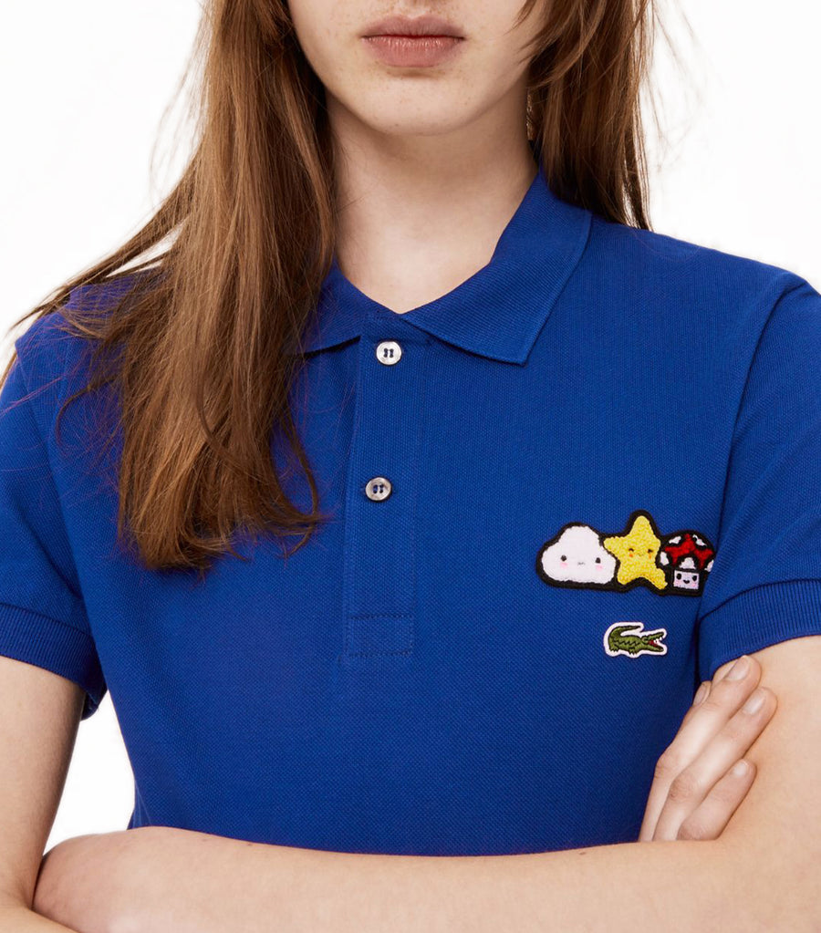 Unisex Lacoste x FriendsWithYou Design Classic Fit Polo Shirt Blue
