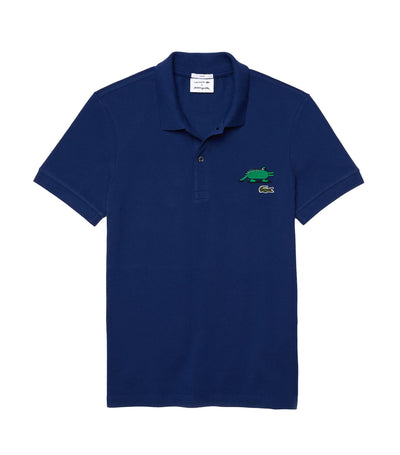 Unisex Lacoste x Jeremyville Design Classic Fit Polo Shirt Navy Blue
