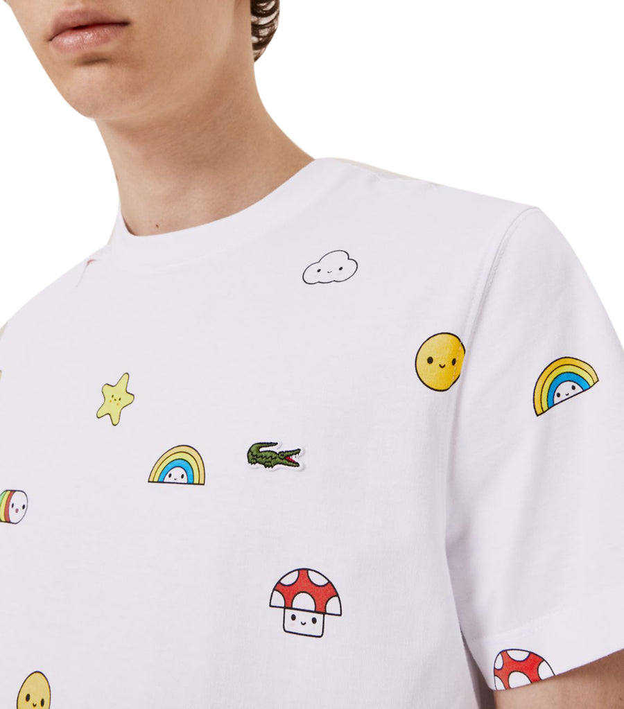 Unisex Lacoste x FriendsWithYou Print Cotton T-Shirt White