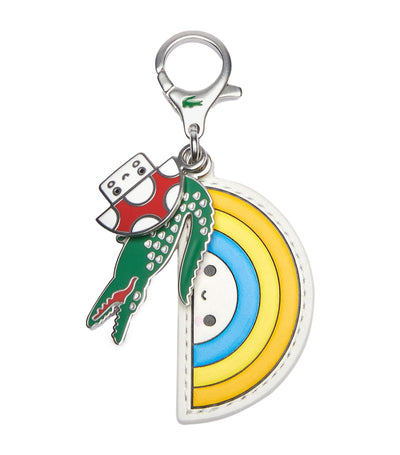 Men's Lacoste x FriendsWithYou Colored Metal Charm Keyring