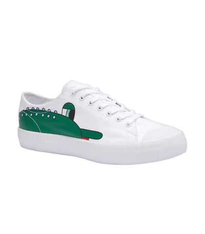 Gripshot Lacoste X Jeremyville Canvas Sneakers White and Green