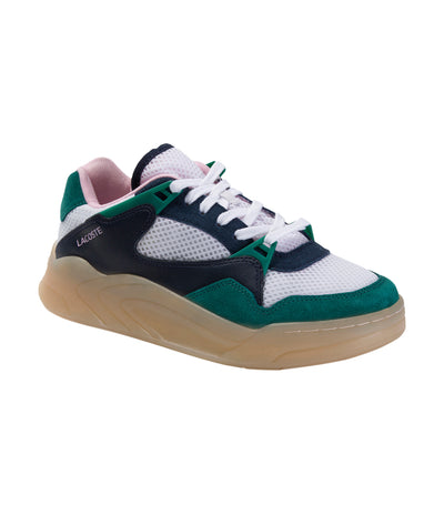 Court Slam Dynamic 220 1 Suede and Textile Sneakers White and Navy