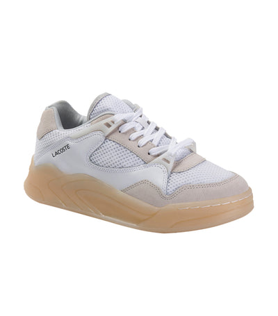 Court Slam Dynamic 220 1 Leather and Textile Sneakers White