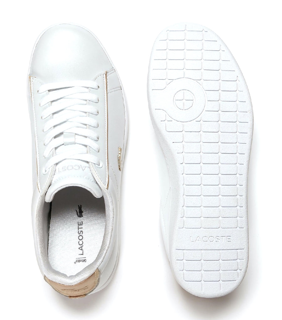 Women's Carnaby Evo Leather Sneakers White/Gold