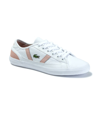 Women's Sideline Leather Sneakers White/Natural