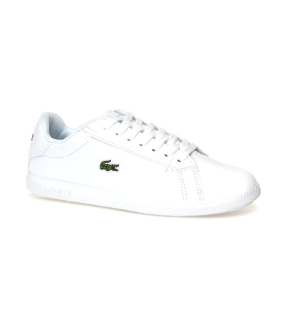 Women's Graduate Leather and Synthetic Sneakers White/White