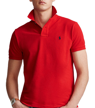 Custom Slim Fit Mesh Polo Red